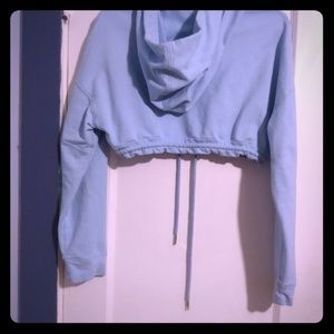 Fashion Nova baby blue cropped hoody